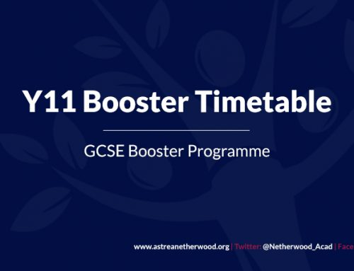 Y11 Booster Timetable