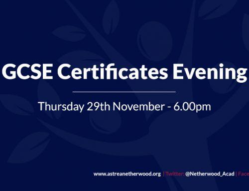 GCSE Certificates Evening