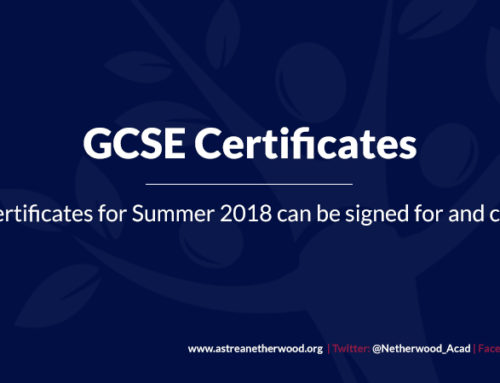 GCSE Certificates for Summer 2018