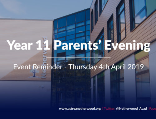 Year 11 Parents Evening – Event Reminder
