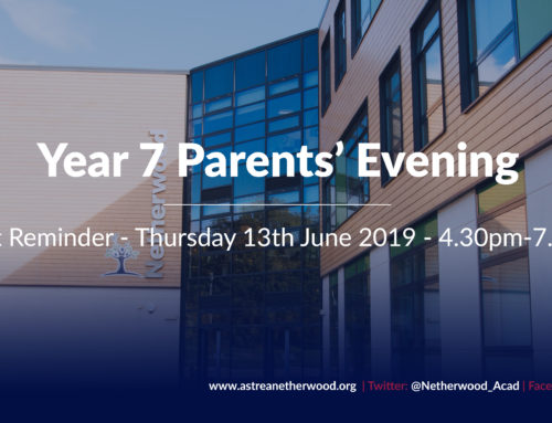 Event Reminder – Year 7 Parents Evening