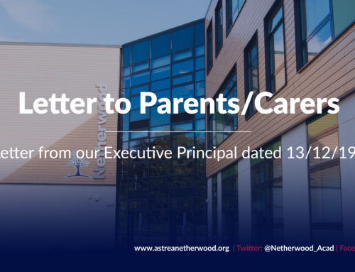 Letter to Parents/Carers from our Executive Principal dated 13/12/19