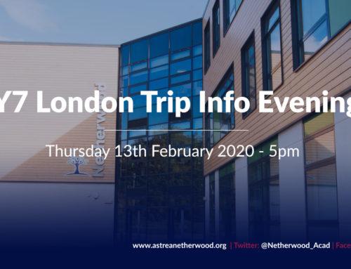 Y7 London Trip Information Evening