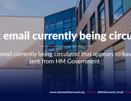 Hoax email currently being circulated