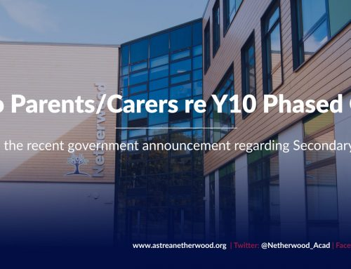 Letter to Parents/Carers regarding Y10