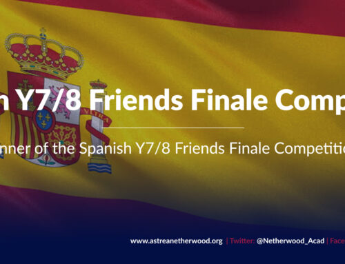 Winner of the Spanish Y7/8  Friends Finale Competition