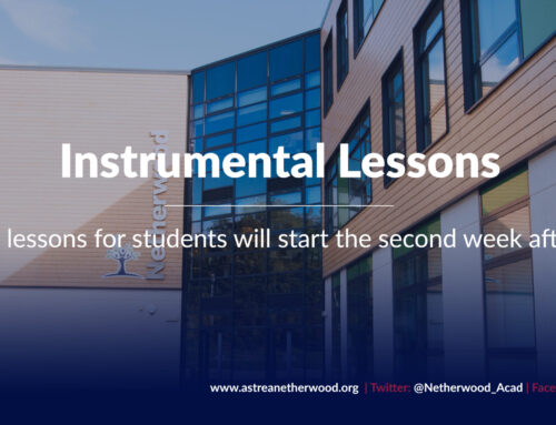 Instrumental lessons to start the second week after half term