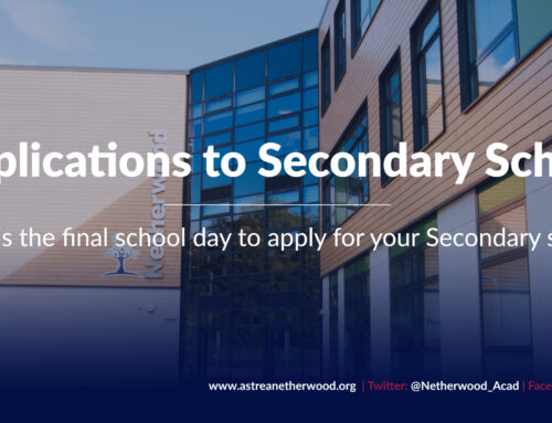 Today is the final school day to apply for your Secondary school
