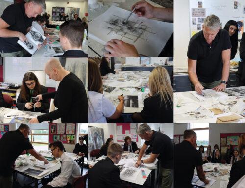 Year 11 workshop with artist Ian Murphy